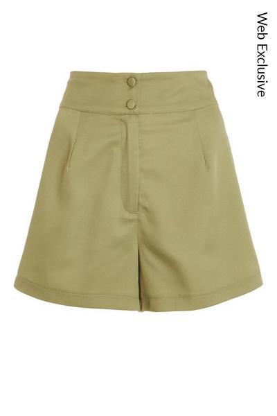 Khaki High Waist Shorts